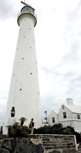 Gibb's Hill Lighthouse Bermuda, built of cast-iron in 1846, repaired after hurricane damage in 2003. Photo © Chris McGregor