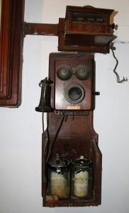 Early telephone at Chirk